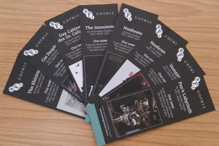 BFI Gothic bookmarks