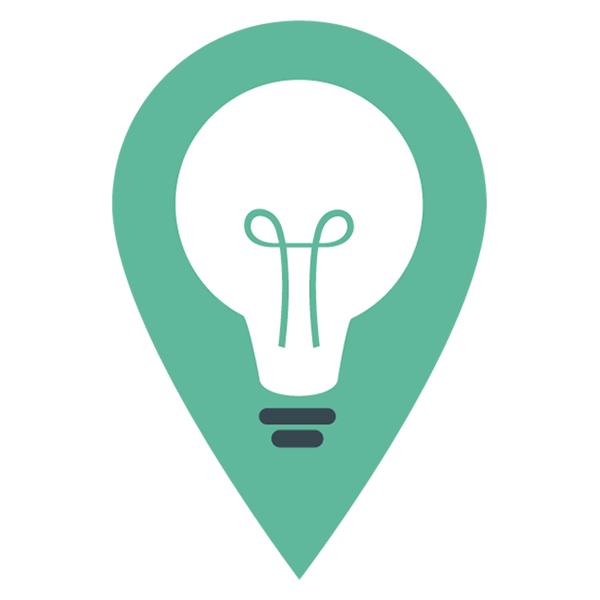 Green and blue lightbulb icon